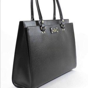 Black Leather Kate Spade Work Bag, Computer Bag